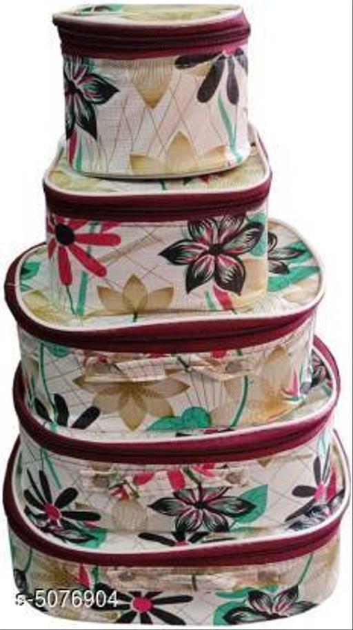 Toiletry Shaving Makeup Bindi Bangle Socks Hanky Storage - Floral