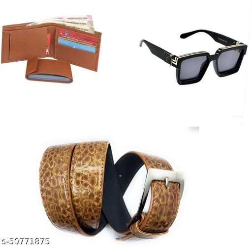 dk enterprises  mall fashionable  combo of 3belt ,sunglass .wallet