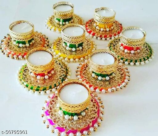 Diwali Decoration Tealight Candle, Diya Holder for Home, Office etc.Rajsthani  Hand Crafted/Made in India