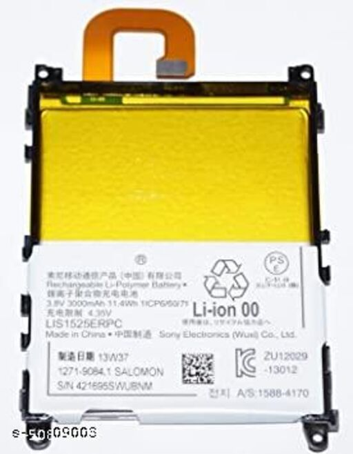 Divleen Compatible Mobile Battery for Sony Xperia Z1 LIS1525ERPC C6903, C6902, C6906, SO-01F 3000mAh