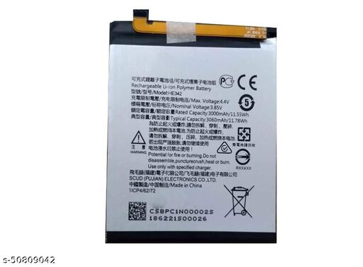 Divleen Compatible Mobile Battery for Nokia 5.1 Plus HE342 3060mAh.