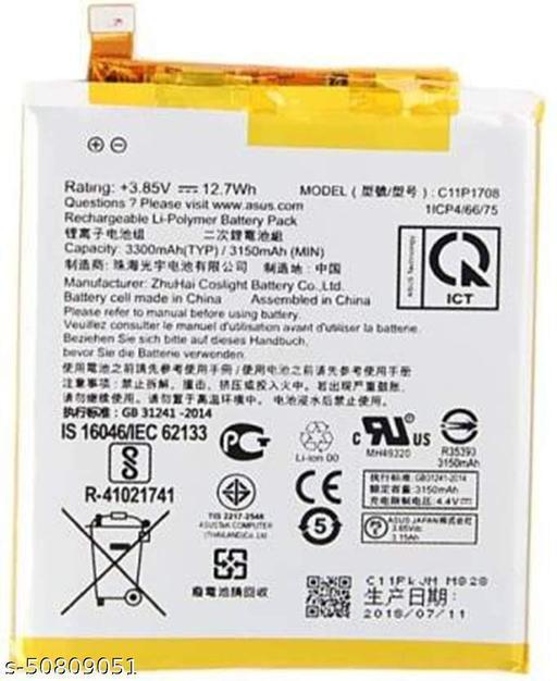 Divleen Compatible Mobile Battery for Asus Zenfone 5 / 5Z ZE620KL C11P1708 3300mAh.