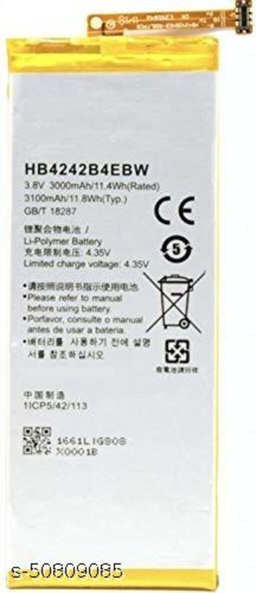 Divleen Compatible Mobile Battery for Huawei Honor 4X / Honor 6 HB4242B4EBW 3100 mAh.