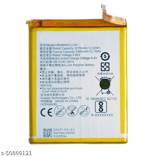 Divleen Compatible Mobile Battery for Huawei Honor 6X HB386483ECW 3340 mAh.