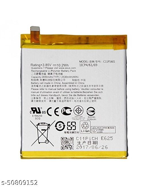 Divleen Compatible Mobile Battery for Asus Zenfone Max M2 ZB632KL ZB633KL C11P1805 4000mAh.