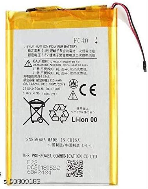Divleen Compatible Mobile Battery for Motorola Moto G3 Moto G 3rd Gen FC40 2470 mAh.