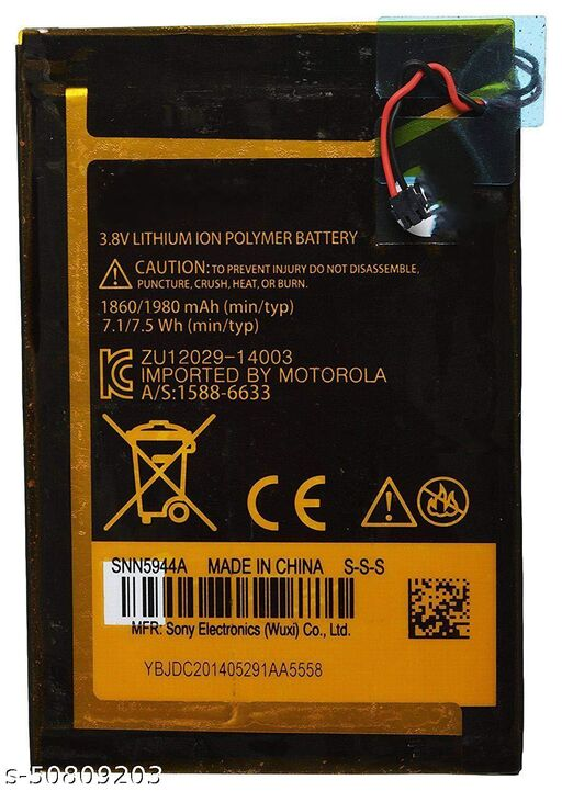 Divleen Compatible Mobile Battery for Motorola Moto E/Moto E 1st Gen EL40 1860 mAh.