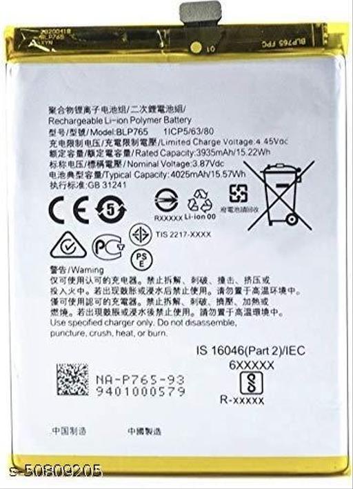 Divleen Compatible Mobile Battery for Oppo Reno 3 / Oppo A91 / Oppo F15 BLP765 4025 mAh.
