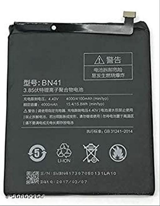 Divleen Compatible Mobile Battery for Xiaomi Redmi mi Note 4X BN41 (4000mAh)