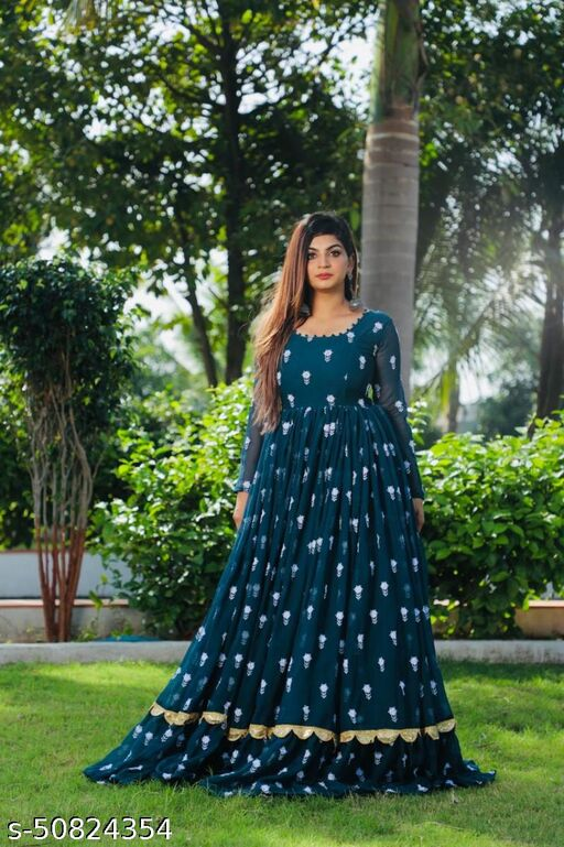 NEW Georgette Full Stitched Anarkali Gown