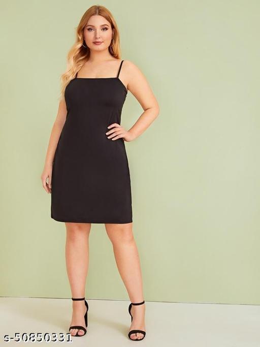 Plus Solid Cami Dress