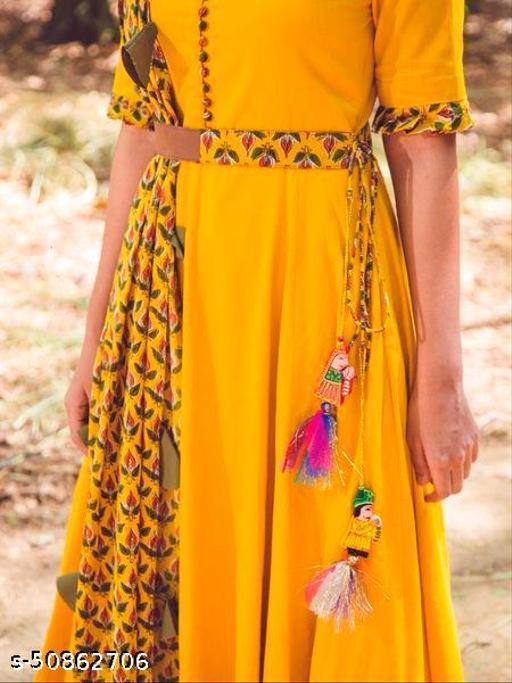 Mustard Yellow Anarkali gown