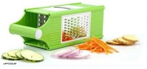 KP 4 in 1 (Thick Grater, Thin Grater, Slicer and Boiled Crusher) Vegetable & Fruit Grater & Slicer  (4 in 1 Plastic Slicer with Stainless Steel Blades)