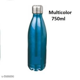 Cola Double Wall Vacuum Insulated Bottle 750ml water bottle Multicolor 1pcs