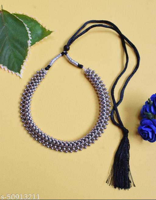 Oxidized Choker Necklace