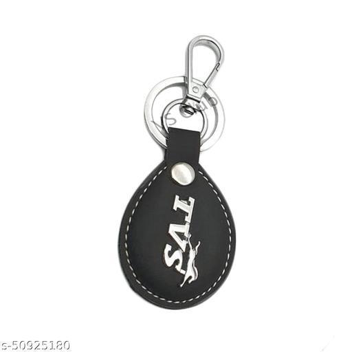 VS Club Bike Scootor Keychain Stylish Leather Metal Keychain For Men Women, Girls, Boys Key Ring Hook Key chain Holder For Bikes Car Home For Gift (Black)