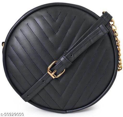 PU Embroided Latest Stylish Trendy women & girls Round sling Bag