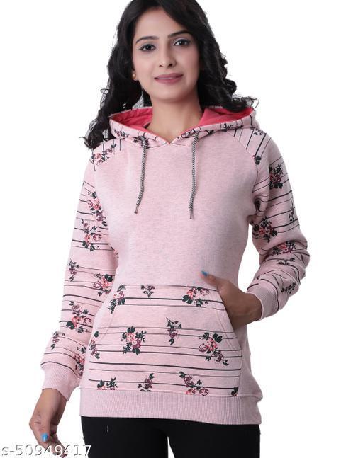 Hifzaa women s cotton brushed fleece Women s sweatshirt