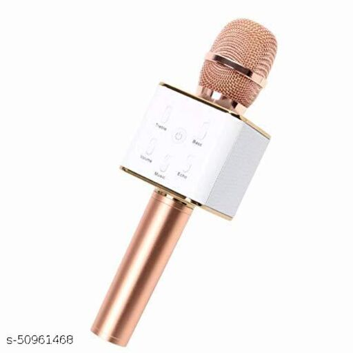CHG Q7 Advance Handheld Wireless Singing Mic Multi-function Bluetooth Karaoke Mic with Microphone Speaker with Audio Cable For All Smart Phones Z1