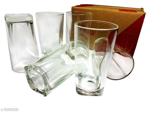 Glassware & Drinkware Useful Kitchen Utilities  *Material* Glass  *Capacity* 295 ml  *Description* It Has 6 Pieces Of Glasses  *Sizes Available* Free Size *    Catalog Name: Trendy Useful Kitchen Utilities Vol 11 CatalogID_751221 C136-SC1603 Code: 755-5096600-