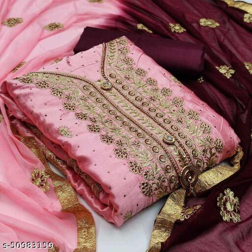 Charvi Graceful Semi-Stitched Suits