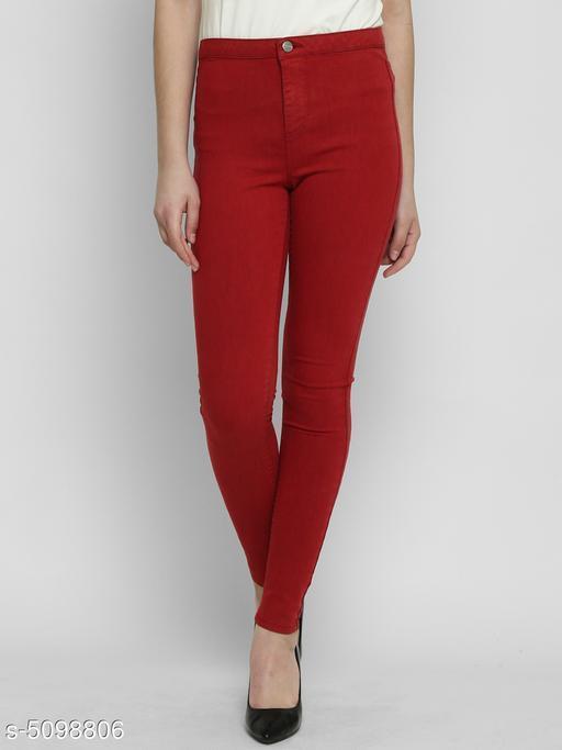 Attractive Cotton Blend Women's Jeans