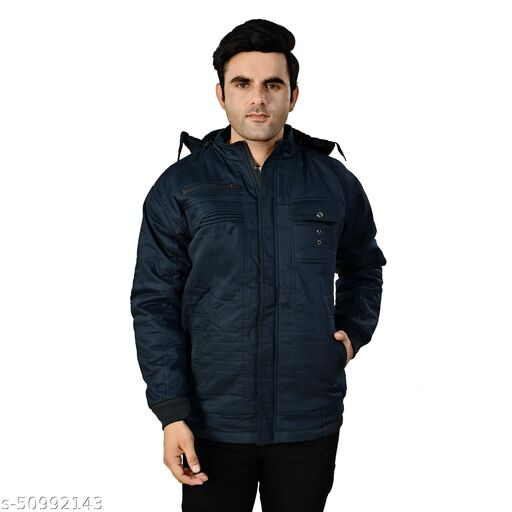 Men's Imported Fabric Leather Jacket With Hoodie