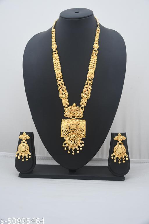 ZIYZ LCT Gold Plated Wedding Jewellery Necklace Set D-15