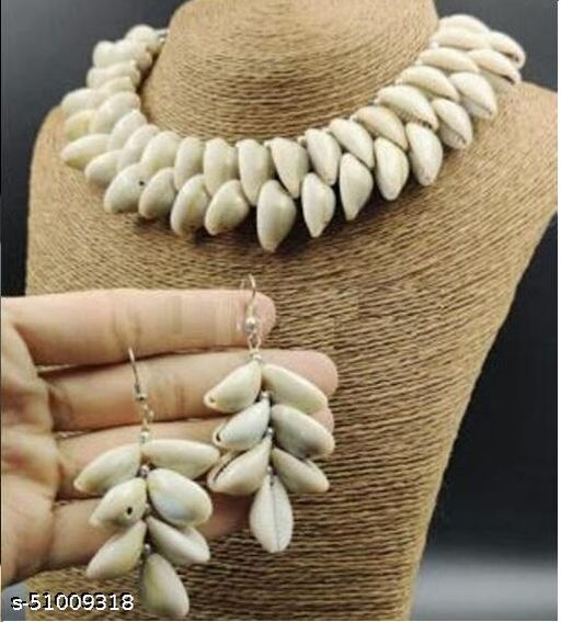 KLENOT Double Layered Shell Design Choker With Earrings Set