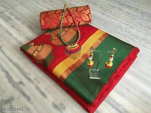 Designer festival saree with jewelery