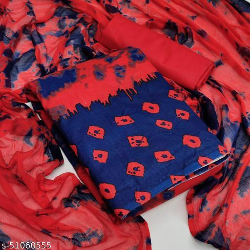 AP Elegant Cotton Unstitched Dress Material