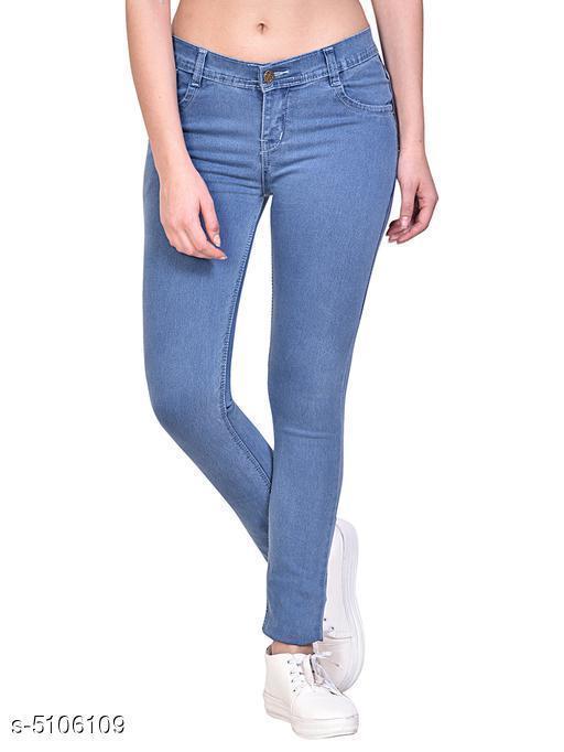Attractive Silk Denim Women's Jeans
