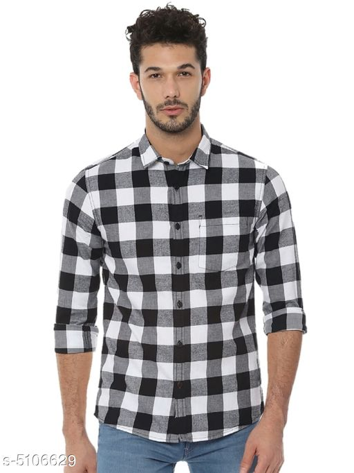 Stylish Cotton Blend Men's Shirts