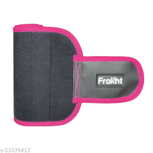 Frokht Sweat Slim Belt for Men and Women Non-Tearable Neoprene Body Shaper wear and Tummy Trimmer Exercise ( Pink )