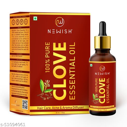 Newish® Pure & Natural Clove Oil for Teeth Pain, Skin & Hair 30ml