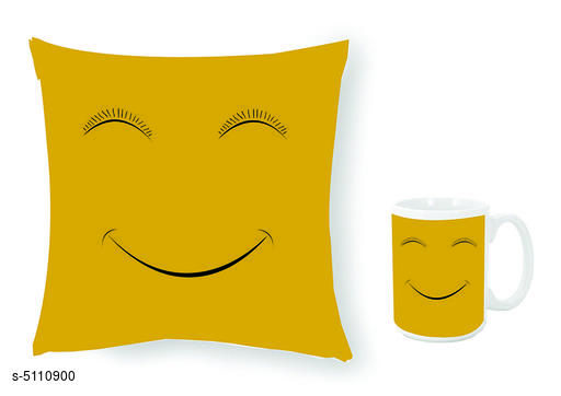 Divine Classic Coffee Mugs With Cushion Cover Combo (Pack Of 2)