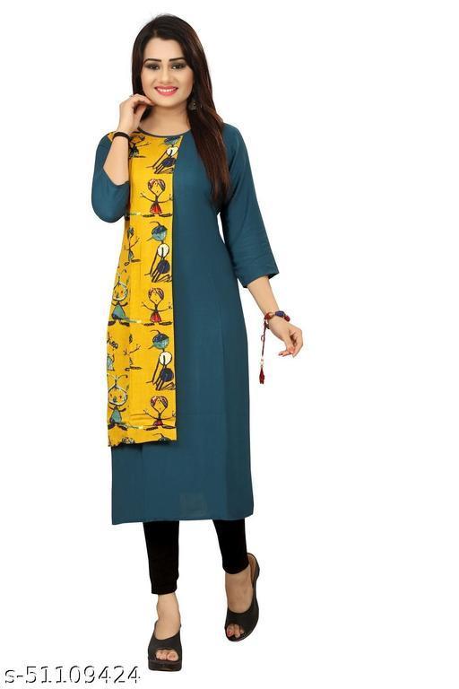Women's rayon Fabric Classic Kurti/Straight Kurti