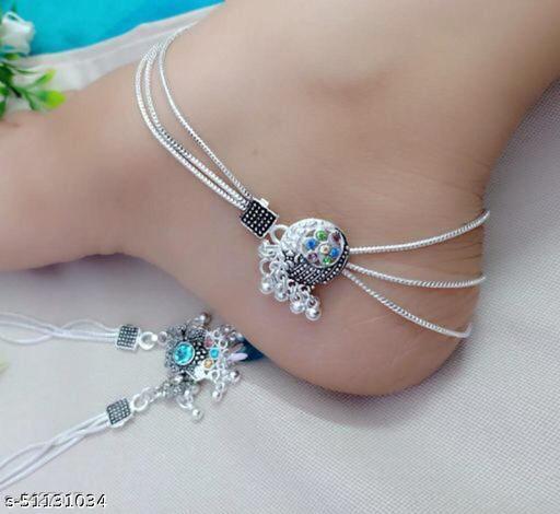 Shimmering Graceful Women Anklets & Toe Rings