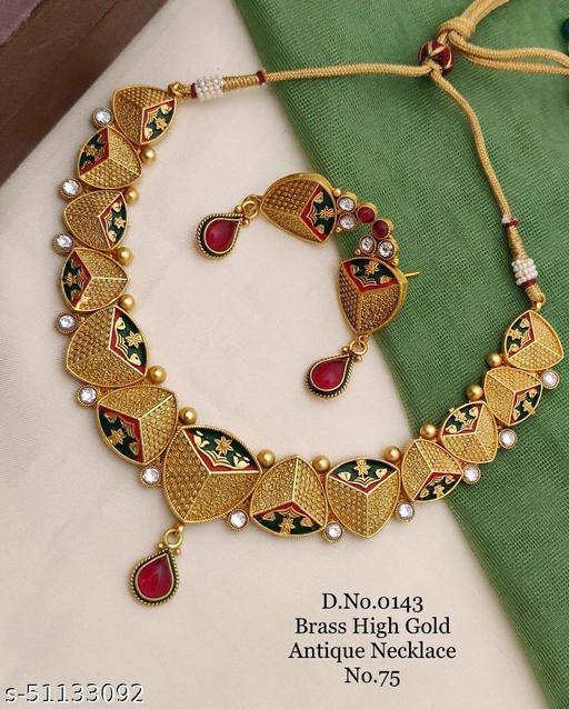 Rahi Enterprise Antique Gold Plated Wedding Jewellery Set for Women & Girl