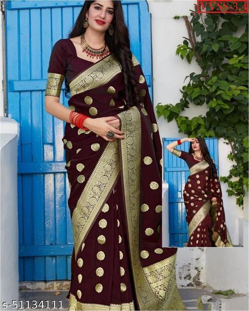 Vrindavrihas Soft Banarasi Silk Saree
