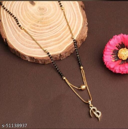 New and Trendy Delicated Mangalsutra with Alphabet