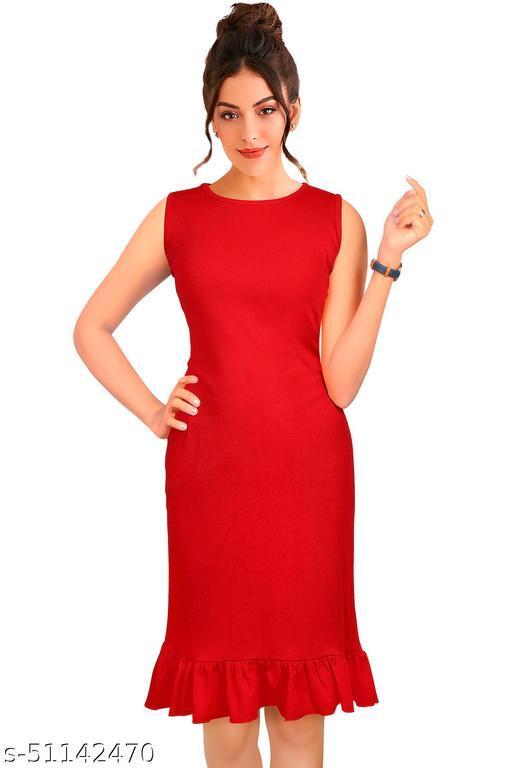 Ikaya Women A-line Red Dress