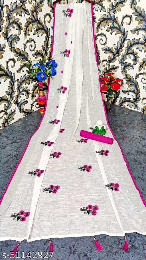 linen saree with full Malti work SAREES