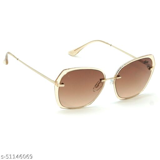 FZ-X-1011-C3 57mm Large Butterfly,Retro Square Brown,Golden Gradient Sunglasses for  Women