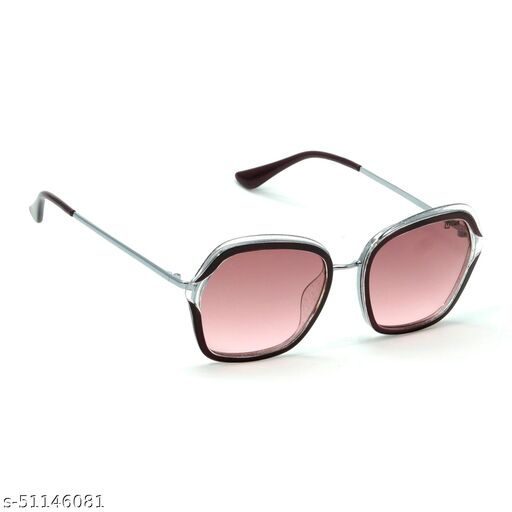 FZ-X-1016-C3 54mm Large Retro Square,Over-sized Pink,Clear,Silver Gradient Sunglasses for  Women