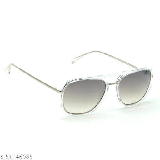 FZ-X-1014-C1 56mm Medium Rectangular Clear,Silver Gradient Mirrored Sunglasses for  Men & Women