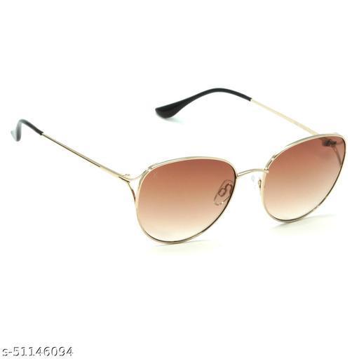 FZ-X-1001-C3 57mm Medium Oval Golden Gradient Sunglasses for  Women