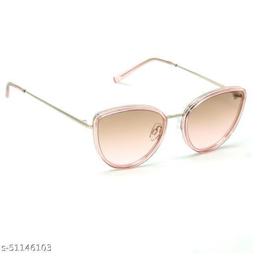 FZ-X-1009-C2 57mm Large Cat-eye Pink,Golden Gradient Sunglasses for  Women