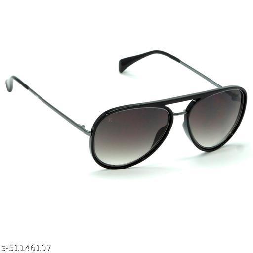FZ-X-1008-C3 57mm Medium Aviator Black,Grey Gradient Sunglasses for  Men & Women