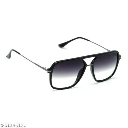 FZ-X-1013-C1 56mm Large Retro Square Black Gradient Sunglasses